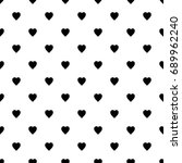 hearts pattern swatch the... | Shutterstock .eps vector #689962240
