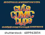 cute comic type. isolated... | Shutterstock .eps vector #689963854
