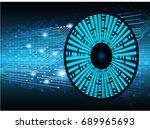 future technology  blue eye... | Shutterstock .eps vector #689965693