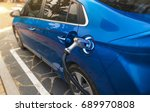 electric vehicle charging   Shutterstock . vector #689970808
