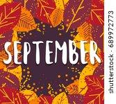 september. colorful... | Shutterstock .eps vector #689972773