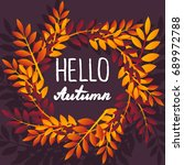 september. colorful... | Shutterstock .eps vector #689972788
