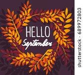 september. colorful... | Shutterstock .eps vector #689972803