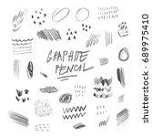 graphite pencil elements | Shutterstock .eps vector #689975410