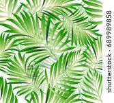 tropical palm leaves  jungle... | Shutterstock .eps vector #689989858