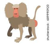 baboon icon. cartoon... | Shutterstock . vector #689990920