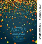 autumn season banner. beautiful ... | Shutterstock .eps vector #690000160