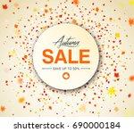 autumn season sale banner.... | Shutterstock .eps vector #690000184
