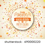 autumn season banner. beautiful ... | Shutterstock .eps vector #690000220