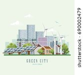 green city vector concept.... | Shutterstock .eps vector #690002479
