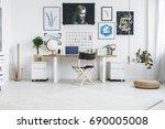 inspiring work zone in modern ... | Shutterstock . vector #690005008