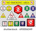no smoking sign information... | Shutterstock .eps vector #690006349