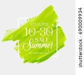 summer sale 10   30  off sign... | Shutterstock .eps vector #690009934