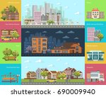 big city concept.... | Shutterstock .eps vector #690009940