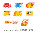 free delivery logos.... | Shutterstock .eps vector #690011494