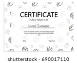 certificate with sport pattern... | Shutterstock .eps vector #690017110