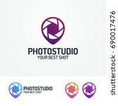 photostudio logo set with... | Shutterstock . vector #690017476