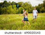 family playing together. | Shutterstock . vector #690020143