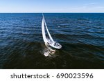 aerial photography of yacht... | Shutterstock . vector #690023596