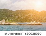 beautiful seascape  water and... | Shutterstock . vector #690028090