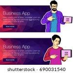 flat design concept of cover... | Shutterstock .eps vector #690031540