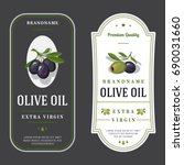set of labels for olive oils | Shutterstock .eps vector #690031660