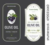 set of labels for olive oils | Shutterstock .eps vector #690031660
