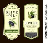 set of labels for olive oils | Shutterstock .eps vector #690031666