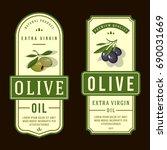 set of labels for olive oils | Shutterstock .eps vector #690031669