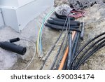 new cables for fast internet | Shutterstock . vector #690034174