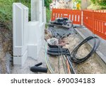 new cables for fast internet | Shutterstock . vector #690034183