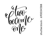 two become one black and white... | Shutterstock .eps vector #690034588
