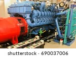 emergency diesel generator for... | Shutterstock . vector #690037006