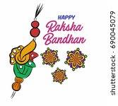 raksha bandhan vector for gidt...   Shutterstock .eps vector #690045079