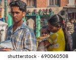 swayambhunath  loved buddhist...   Shutterstock . vector #690060508