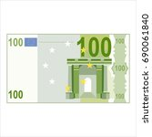 one hundred euro banknote on a...   Shutterstock .eps vector #690061840