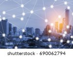 modern and wireless sensor... | Shutterstock . vector #690062794