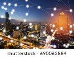 modern and wireless sensor... | Shutterstock . vector #690062884