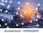 modern and wireless sensor... | Shutterstock . vector #690062890
