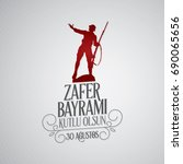30 august zafer bayrami victory ... | Shutterstock .eps vector #690065656