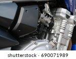 motorbike engine | Shutterstock . vector #690071989