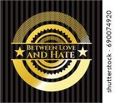 between love and hate golden... | Shutterstock .eps vector #690074920