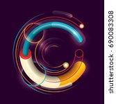 abstract c letter design  made... | Shutterstock .eps vector #690083308