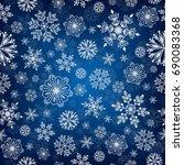 snowflake vector seamless... | Shutterstock .eps vector #690083368