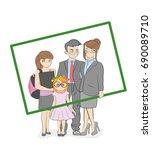 cool vector flat design family... | Shutterstock .eps vector #690089710