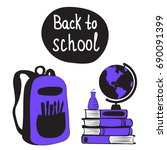 back to school concept with... | Shutterstock .eps vector #690091399
