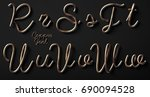 3d render of copper font with... | Shutterstock . vector #690094528