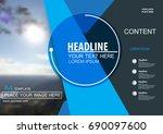 abstract vector modern brochure ...   Shutterstock .eps vector #690097600