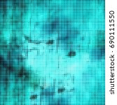 abstract halftone turquoise | Shutterstock . vector #690111550