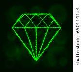 diamond icon. jewel symbol... | Shutterstock .eps vector #690114154